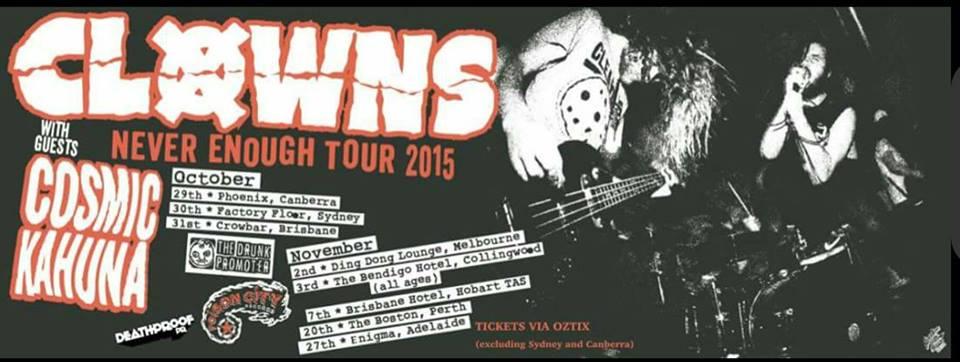 CLOWNS TOUR