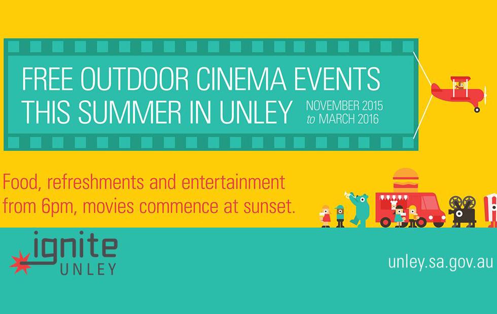 unley hosts outdoor cinema & live music