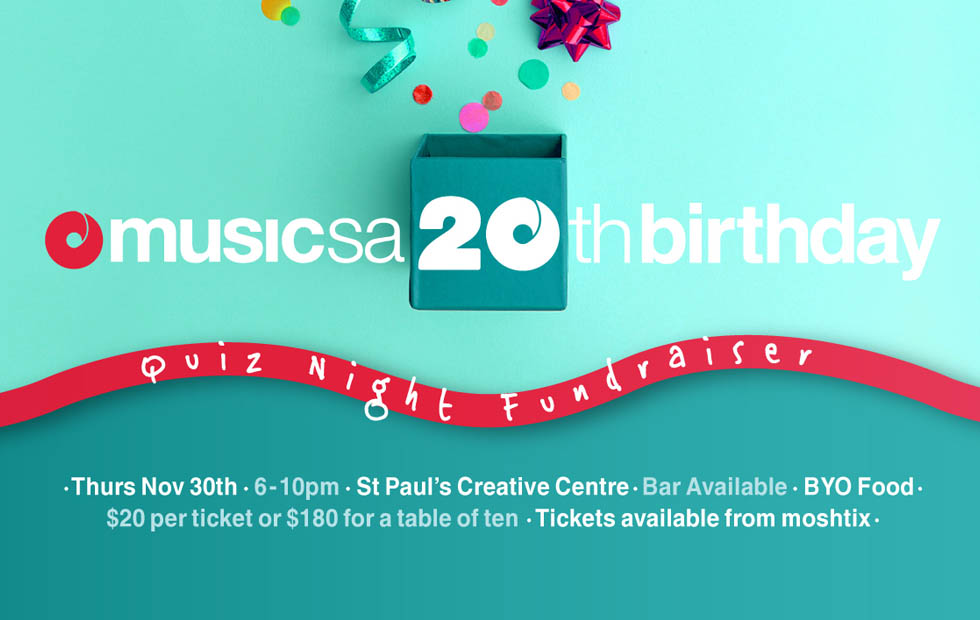 Music SA's 20th Birthday Quiz Night