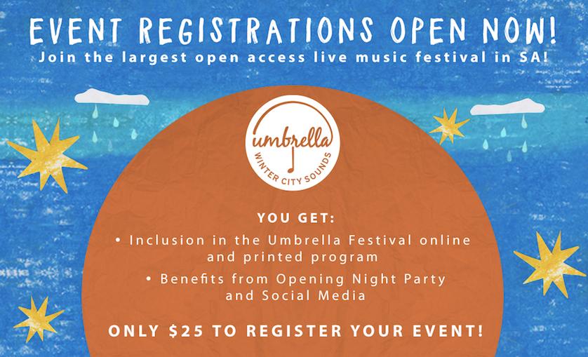 Umbrella Winter City Sounds Registrations Open Now!