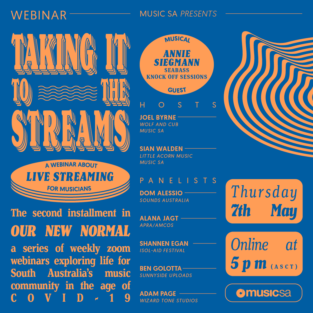 Music SA Presents: Taking It To The Streams –  An Online Discussion About Live Streaming